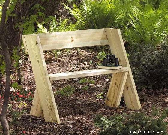 садовая скамейка своими руками (560x450, 253Kb)