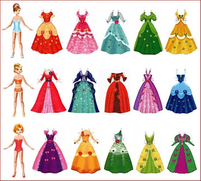 Бумажная кукла платья