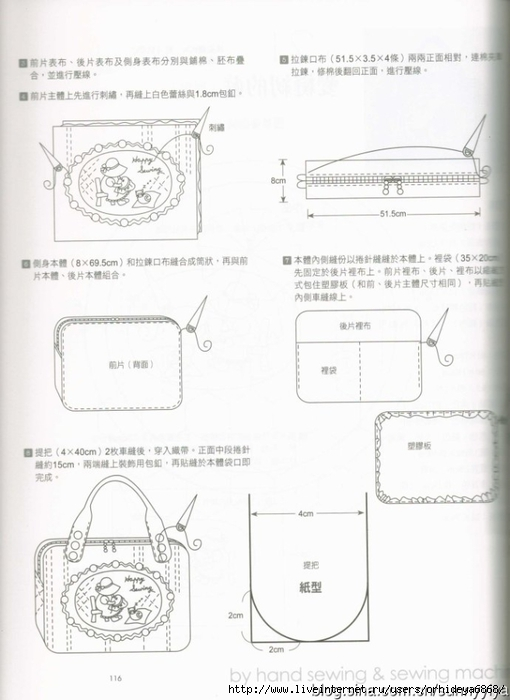Выкройки сумки лоскутной