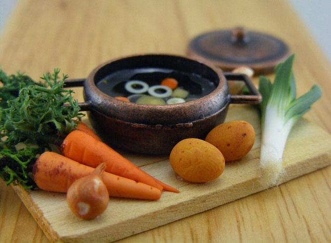 миниатюрная еда из полимерной глины Шай Аарон 5 (670x493, 210Kb)
