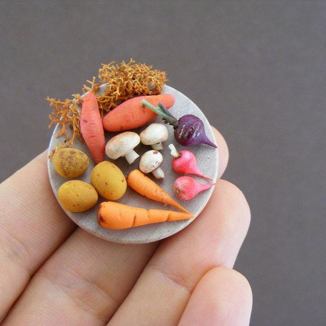 миниатюрная еда из полимерной глины Шай Аарон 7 (670x670, 243Kb)