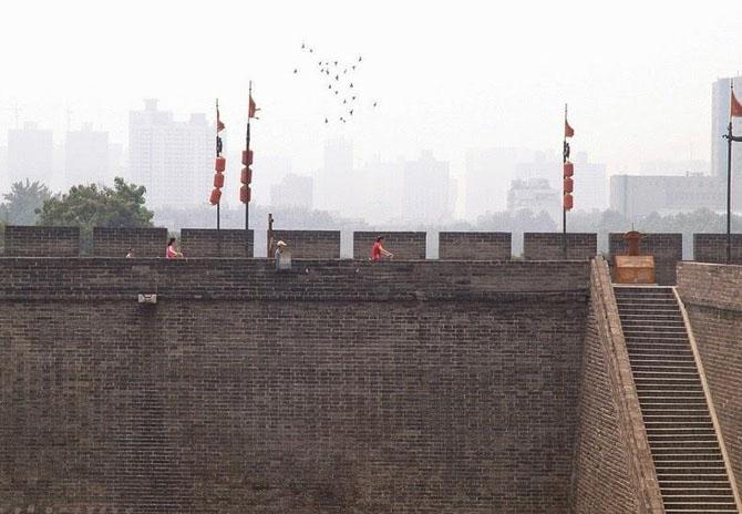 китайская стена город Сиань 5 (670x464, 178Kb)