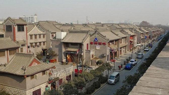 китайская стена город Сиань 7 (670x377, 224Kb)
