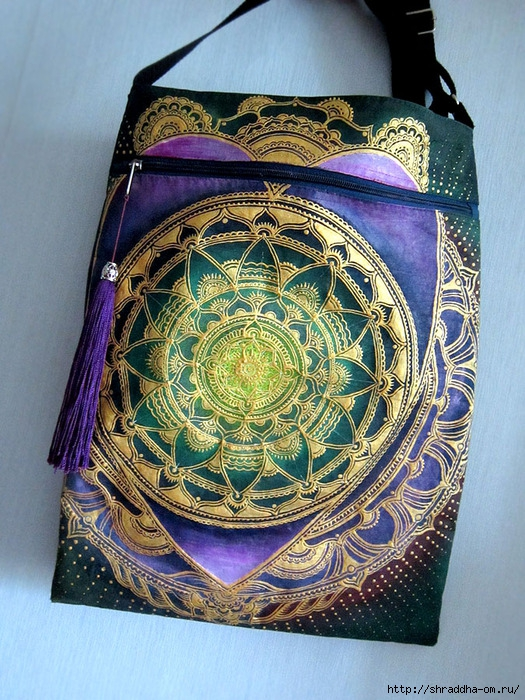 сумка мандала-сердце, автор Shraddha (1) (525x700, 368Kb)