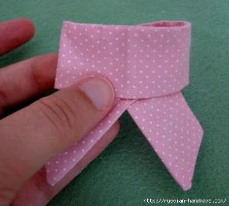 Бантик для украшения детской одежды. Шитье (9) (465x418, 86Kb)