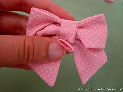 Бантик для украшения детской одежды. Шитье (13) (475x355, 75Kb)