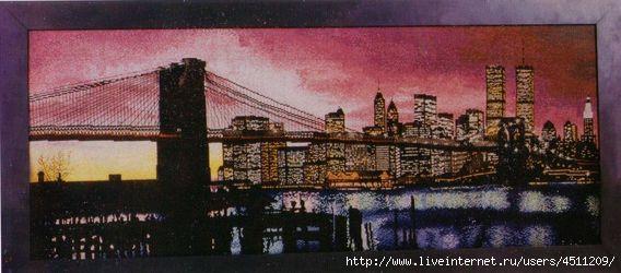 Вышивка крестом нью-йорк