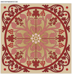 ������ Marquetry ornamental pattern (679x700, 441Kb)