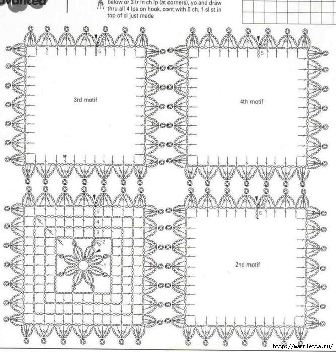 Жилеты крючком из квадратных мотивов (3) (668x700, 303Kb)