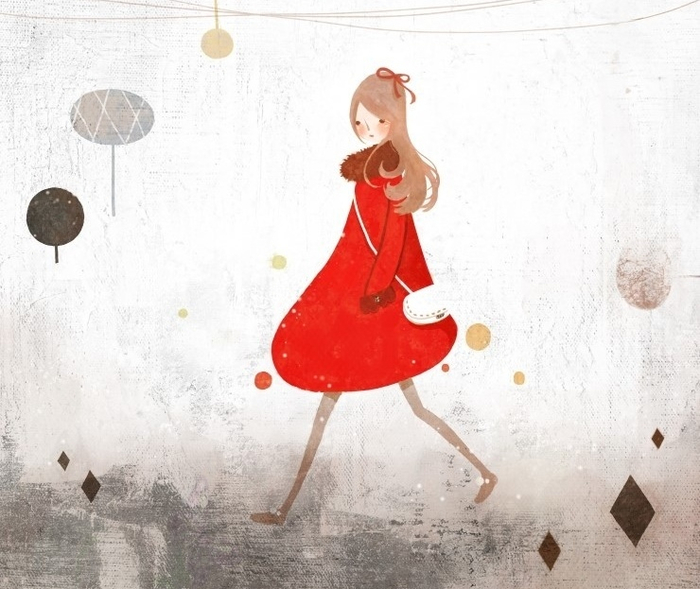 Красное пальто (700x589, 304Kb)