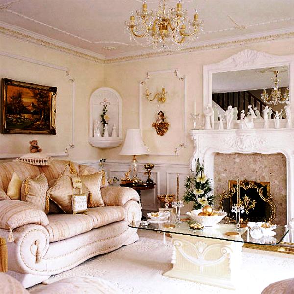 Гостиная белого цвета фото