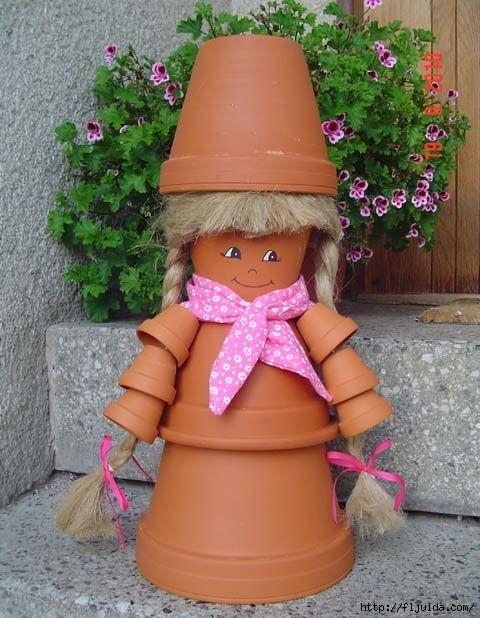DIY-garden-decorations-clay-pots-diffrent-sizes-doll (480x618, 185Kb)