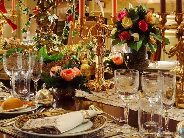 красивое украшение стола фото
