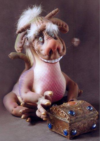 Скульптурный текстиль. Веселый дракон (2) (348x490, 126Kb)