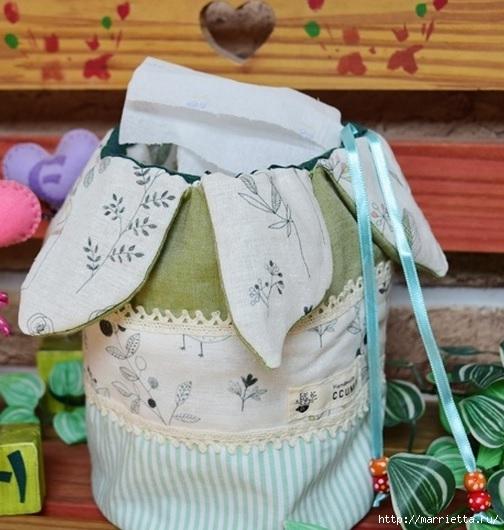 Bolsa de la materia textil por un rollo de papel higiénico.  Cosa ti mismo (5) (504x530, 165Kb)
