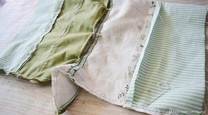 Bolsa de la materia textil por un rollo de papel higiénico.  Cosa a sí mismos (13) (671x373, 159Kb)