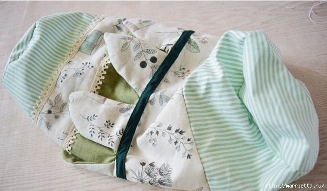 Bolsa de la materia textil por un rollo de papel higiénico.  Cosa a sí mismos (16) (666x388, 162Kb)