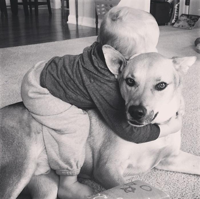 смешные фото детей и собак 7 (700x698, 315Kb)