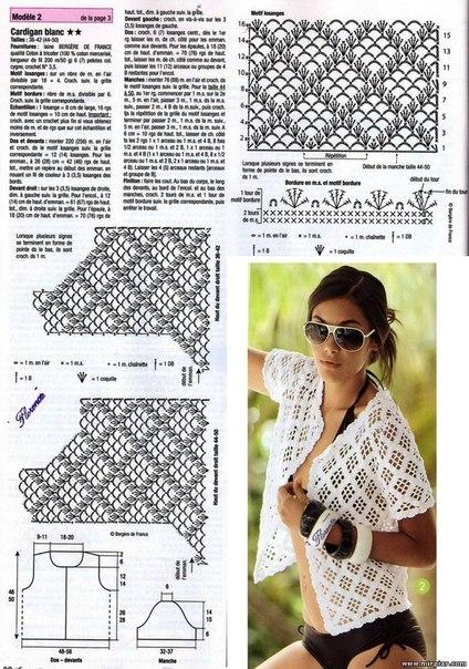 Крючок вязание летних кофточек схемы