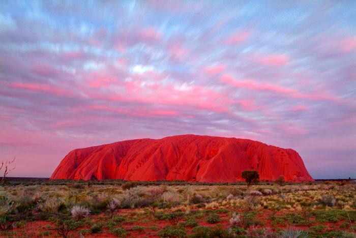 скала улуру австралия фото 3 (700x468, 381Kb)