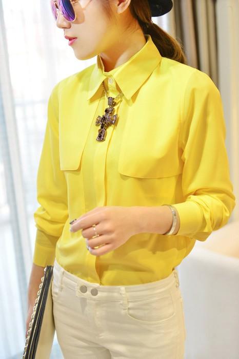 Блузка Цвет Желтый Купить