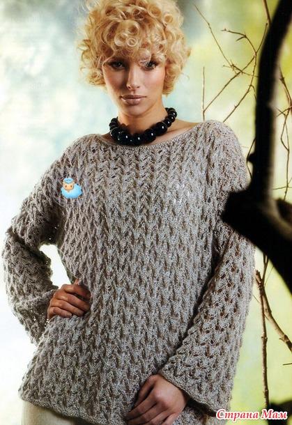 вязаный пуловер (419x610, 306Kb)