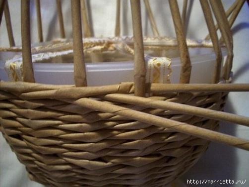 Плетение из газет. Мастер-классы по плетению корзинок и вазочек (2) (502x376, 104Kb)