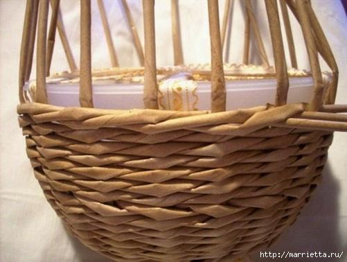 Плетение из газет. Мастер-классы по плетению корзинок и вазочек (4) (501x378, 114Kb)