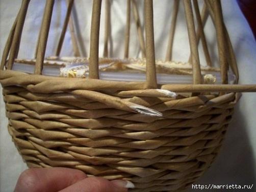 Плетение из газет. Мастер-классы по плетению корзинок и вазочек (6) (502x376, 106Kb)