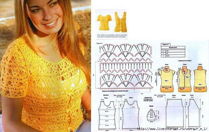 Вязаные Женские Блузки И Топы Со Схемой