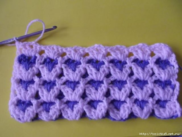 Крючком одеяло