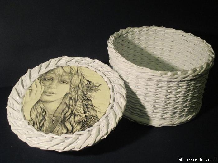 Плетение из газет. Мастер-классы по плетению корзинок и вазочек (43) (700x525, 220Kb)