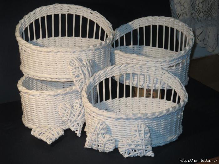 Плетение из газет. Мастер-классы по плетению корзинок и вазочек (45) (700x525, 243Kb)