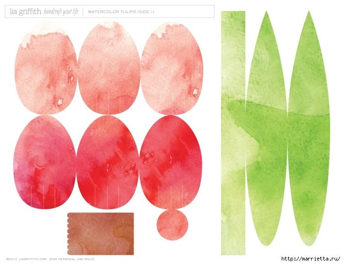 Тюльпаны из гофрированной и офисной бумаги. Мастер-классы (16) (700x540, 210Kb)