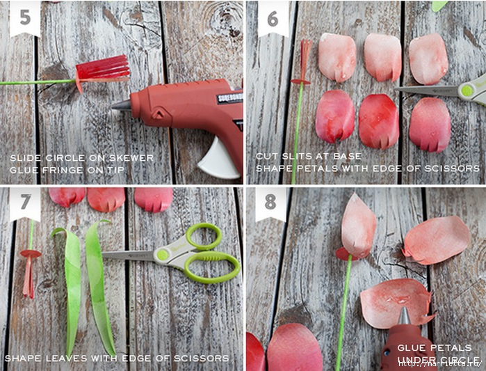 Тюльпаны из гофрированной и офисной бумаги. Мастер-классы (14) (700x533, 305Kb)