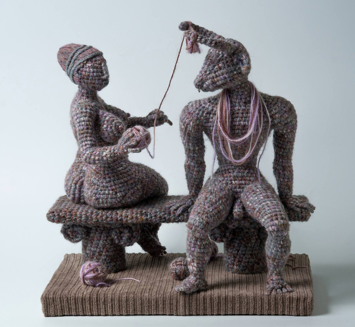 вязанные скульптуры юлии устиновой фото 3 (700x644, 364Kb)