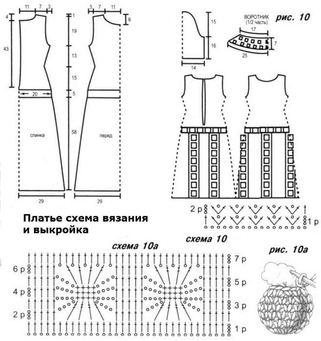 Модели крючком с выкройками