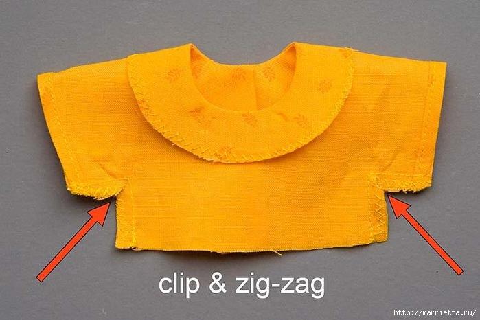 Как сшить платье для куклы. Высота куклы 26 см (8) (700x466, 228Kb)