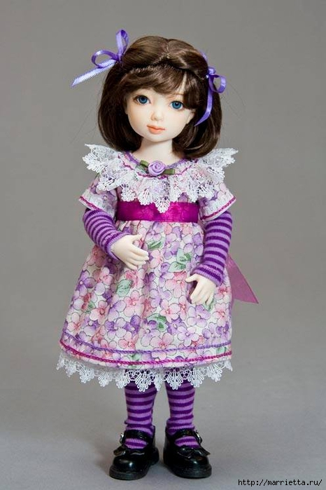 Как сшить платье для куклы. Высота куклы 26 см (14) (466x700, 181Kb)