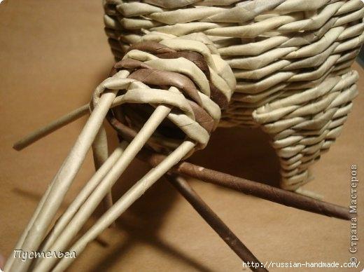 Плетение из газетных трубочек. ЕНОТ (21) (520x388, 109Kb)