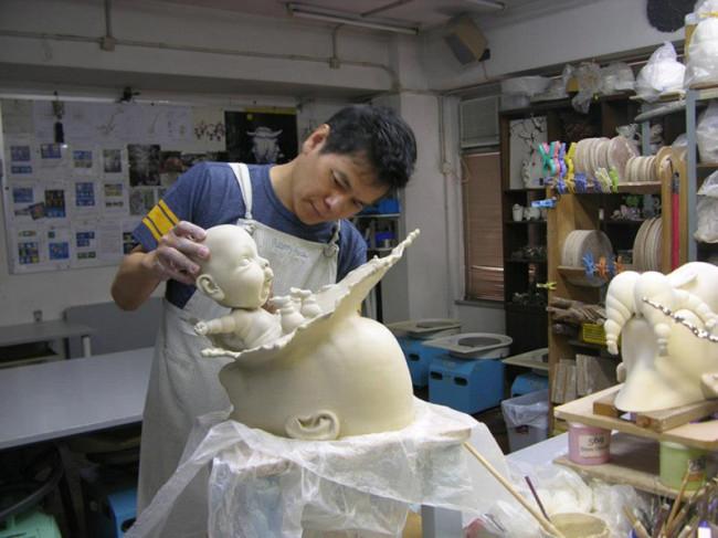 скульптуры из фарфора Джонсон Цанг 9 (650x487, 219Kb)