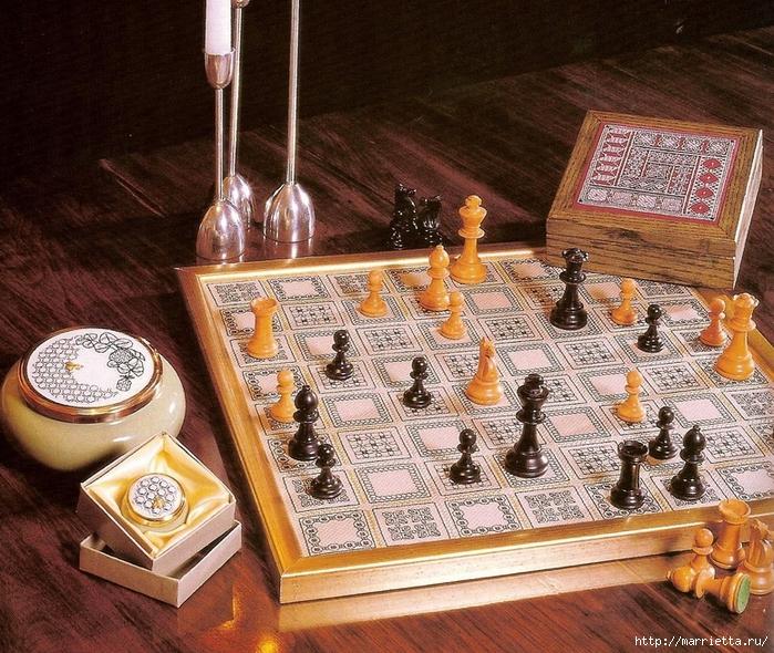 доску для шахмат. Схема