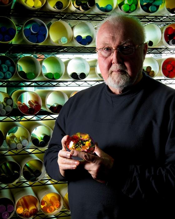 стеклянные шары Paul Stankard 14 (560x700, 280Kb)