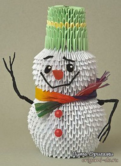 Как сделать снеговика из модулей схема