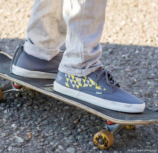 Идеи украшения кроссовок и джинсов для подростков (6) (654x634, 260Kb)