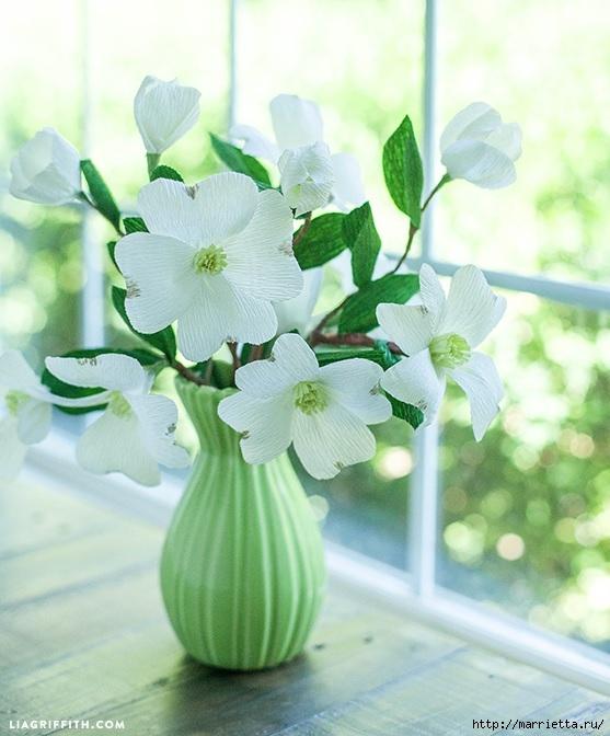 Цветы КИЗИЛА из гофрированной бумаги. Шаблоны для распечатки (1) (557x672, 197Kb)