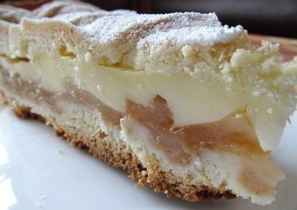 Яблочный пирог с нежным кремом (602x427, 44Kb)