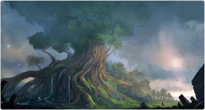 Сказочный дуб (700x378, 173Kb)