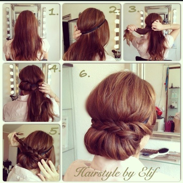 причёска из валика в стиле