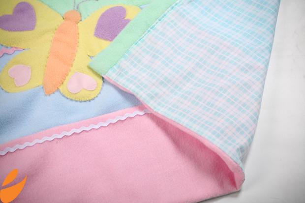 Одеяло с бабочками для детской кроватки. Шьем сами (6) (620x413, 347Kb)